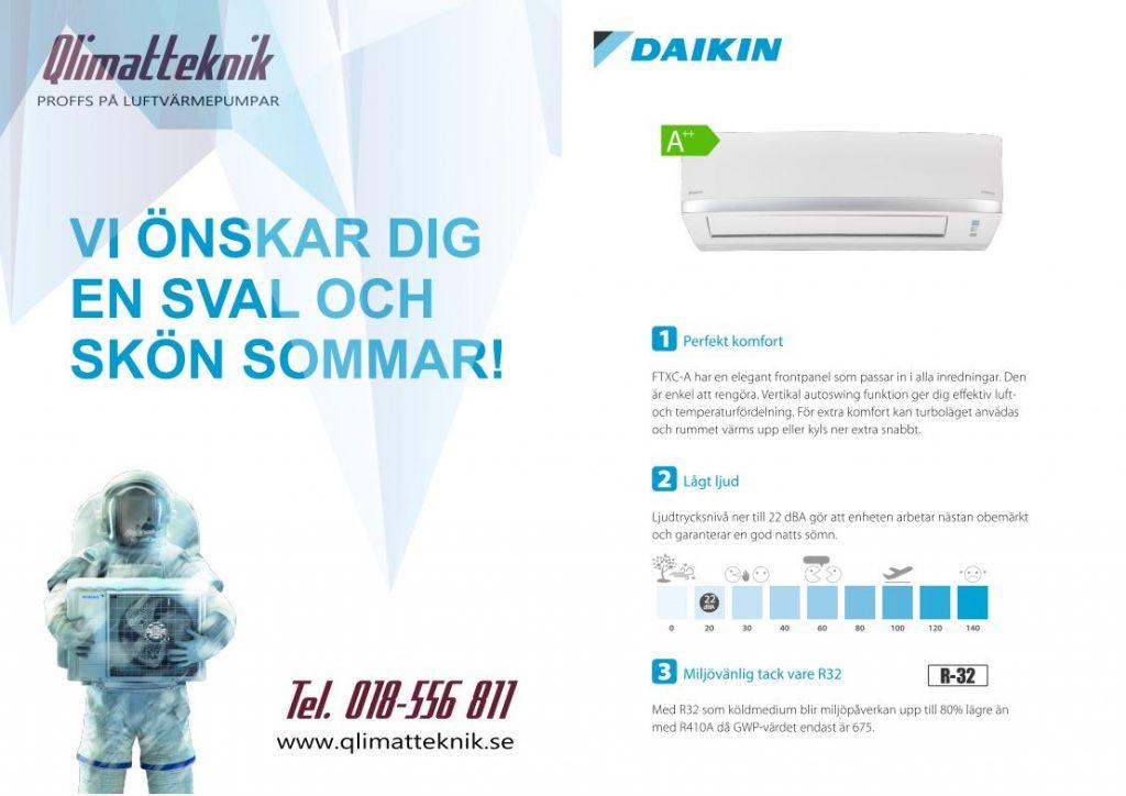 Daikin air condition Uppsala