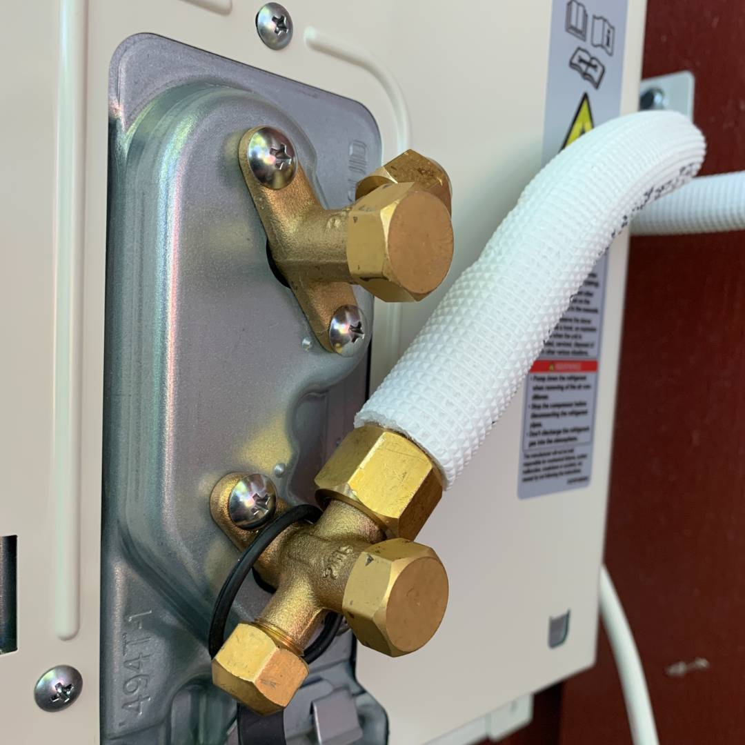 Installation Luft-luftvärmepump