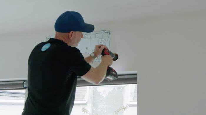 Installation håltagning luft-luftvärmepump_qlimatteknik